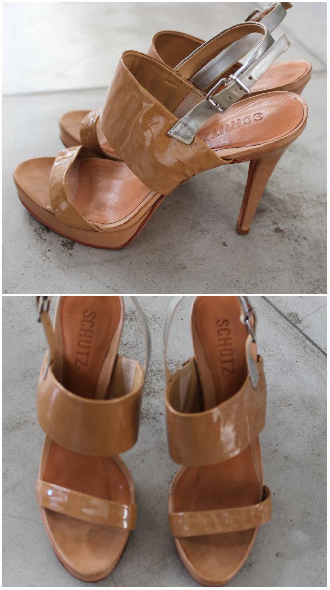 sandalia schutz verniz marrom tamanho 36