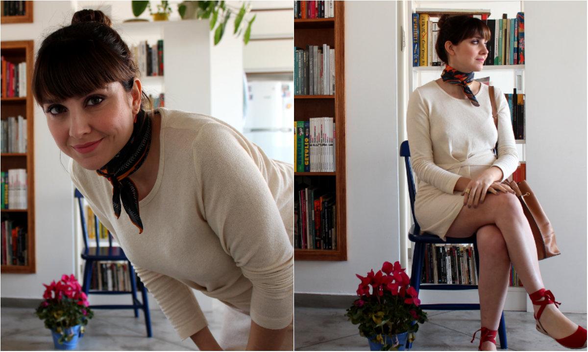 como usar lenço curto 1