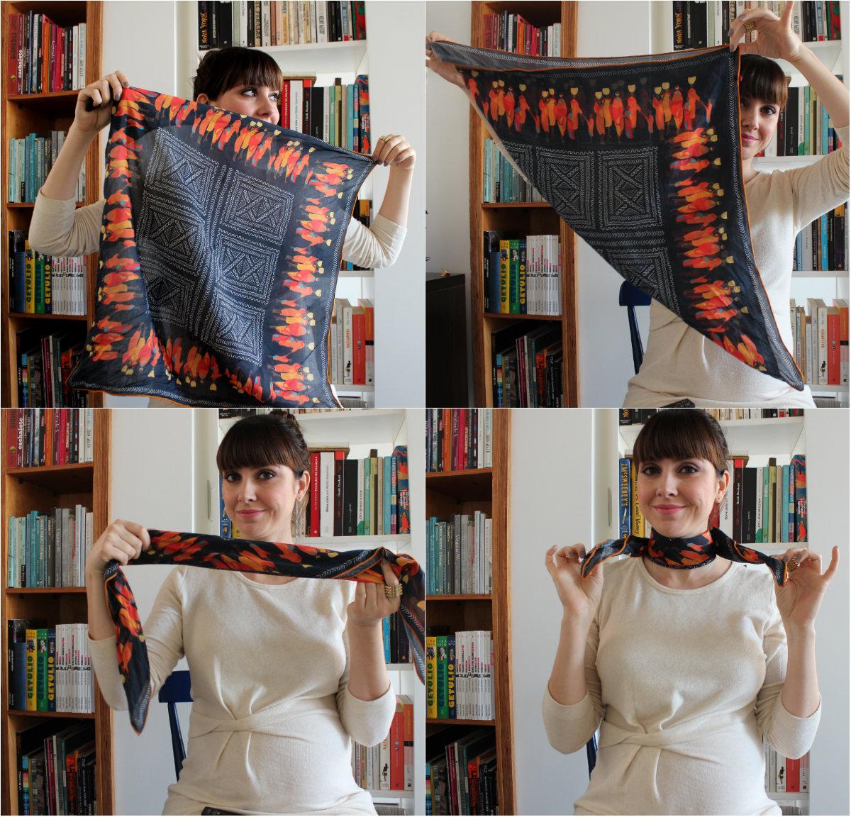como usar lenço curto 2