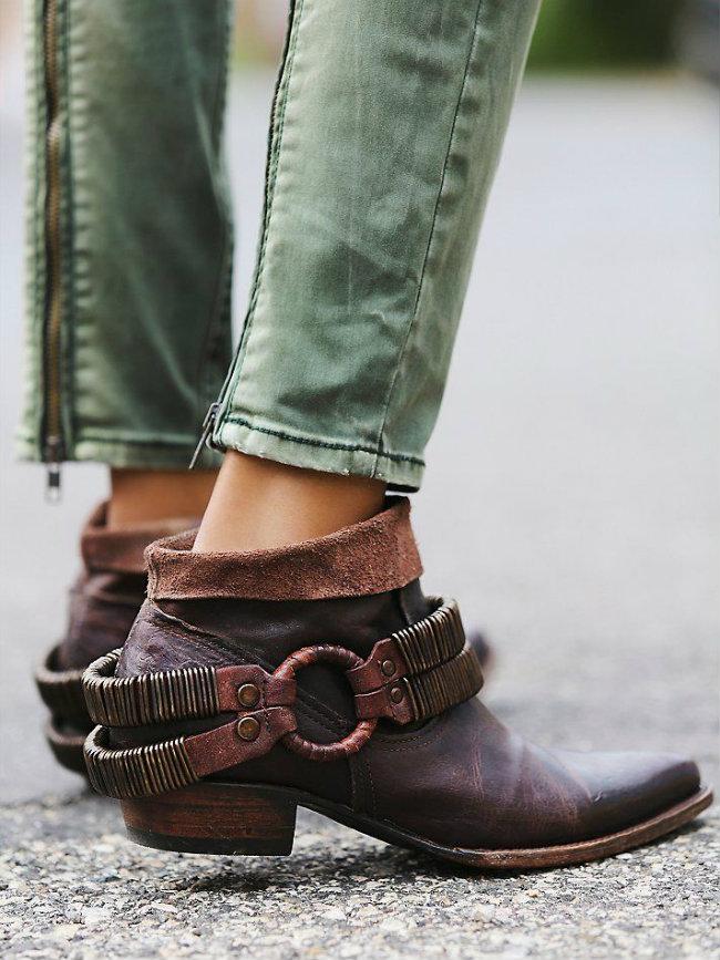 como usar ankle boot marrom 3