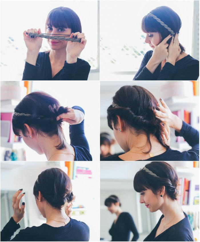 como prender o cabelo com tiara 1