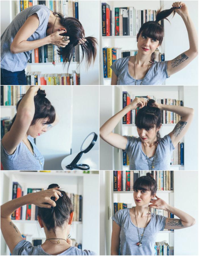 tutorial coque podrinho para cabelos curtos