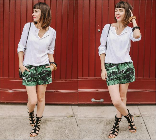 blusa branca com preto