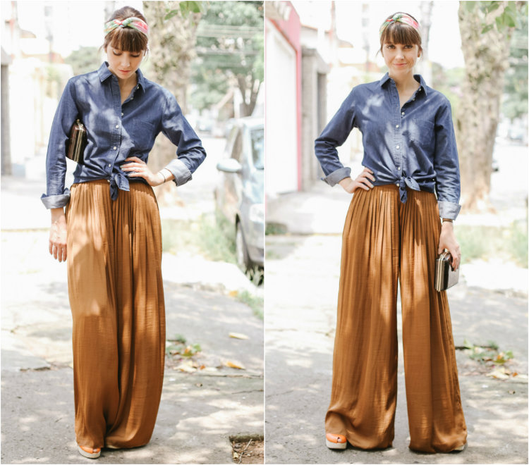 camisa jeans + pantalona