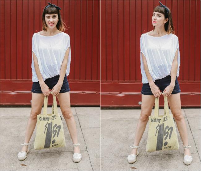 roupa branca short cintura alta