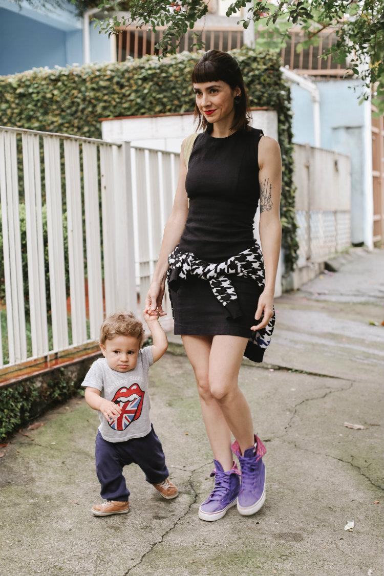vestido preto mamãe