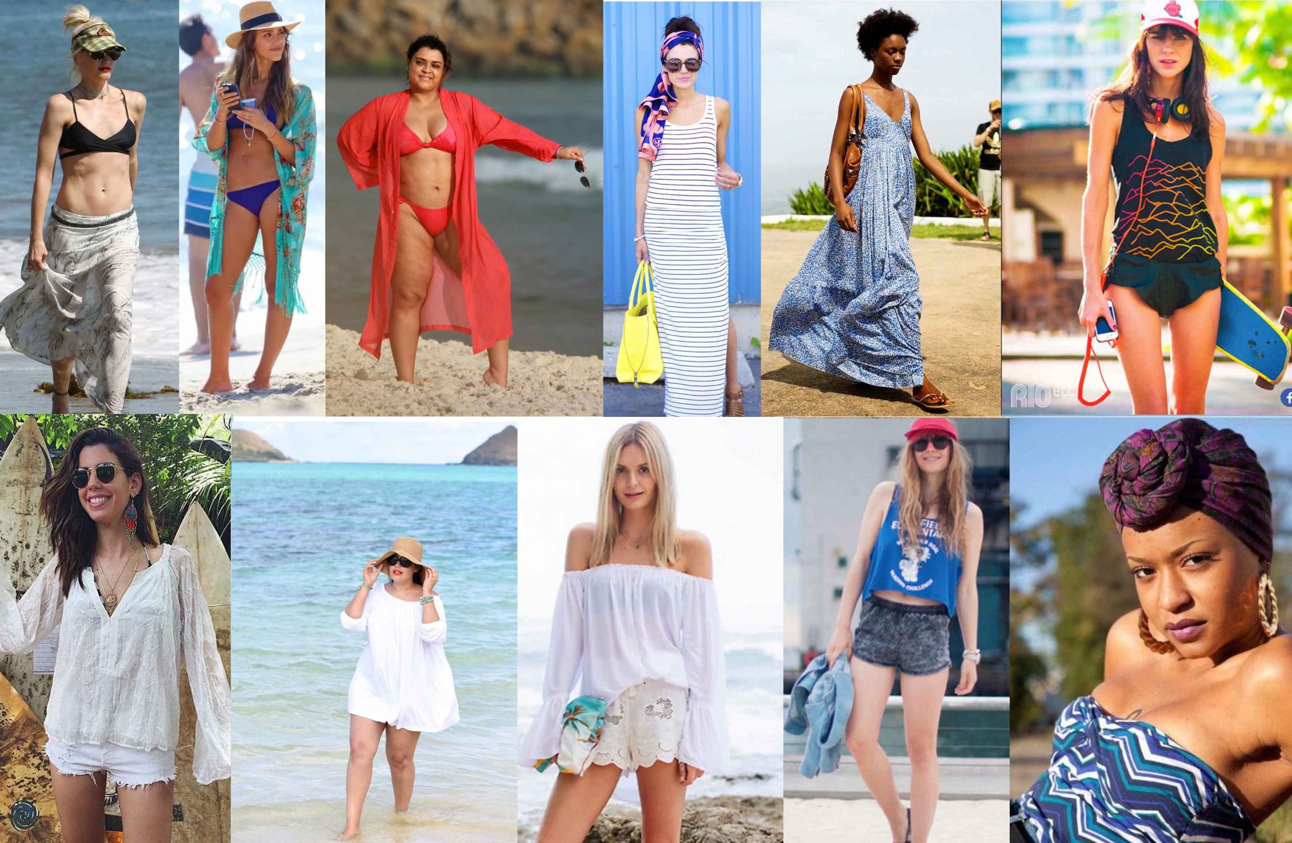 10 looks para usar na praia