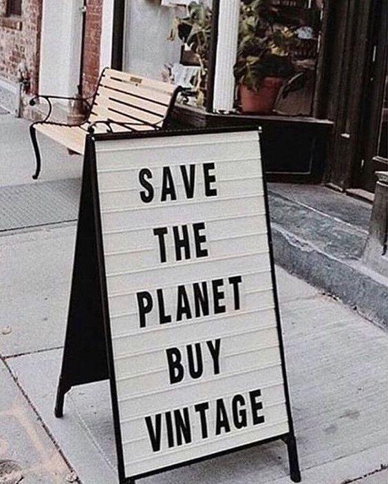 salve o planeta, compre em brechó