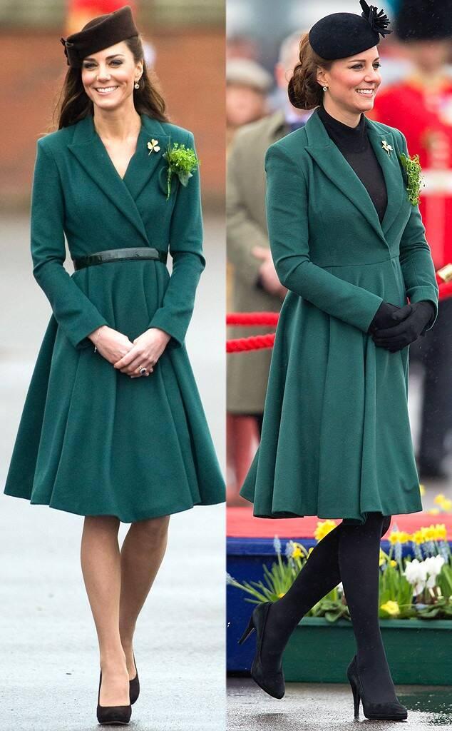 Kate Middleton repetindo vestido